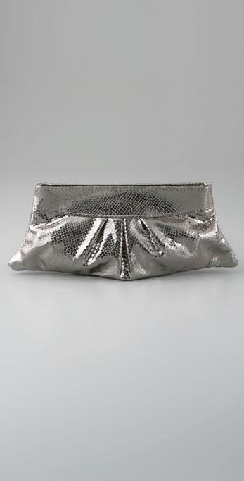 Lauren Merkin Handbags Eve Metallic Snake Clutch