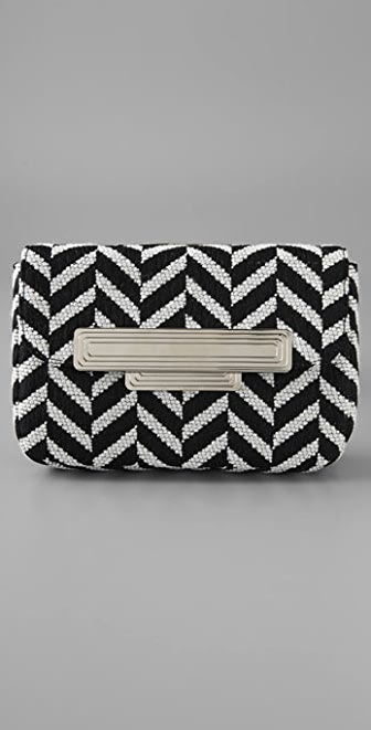 Lauren Merkin Handbags Iris Chevron Clutch