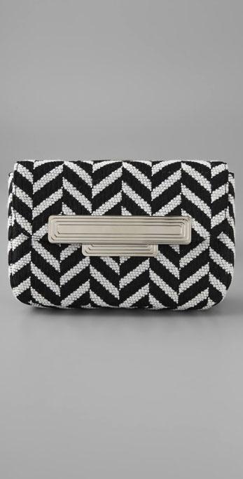 Lauren Merkin Handbags Iris Chevron Clutch