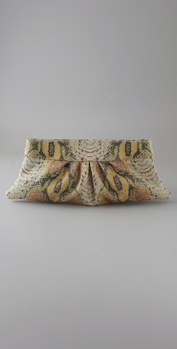 Lauren Merkin Handbags Louise Python Clutch