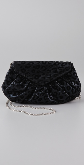 Lauren Merkin Handbags Diana Velvet Leopard Bag