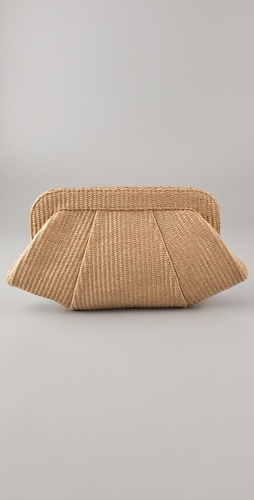 Lauren Merkin Handbags Tatum Raffia Clutch