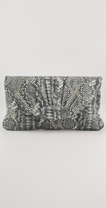 Lauren Merkin Handbags Ava Boa Embossed Clutch