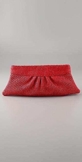 Lauren Merkin Handbags Louise Raffia Clutch