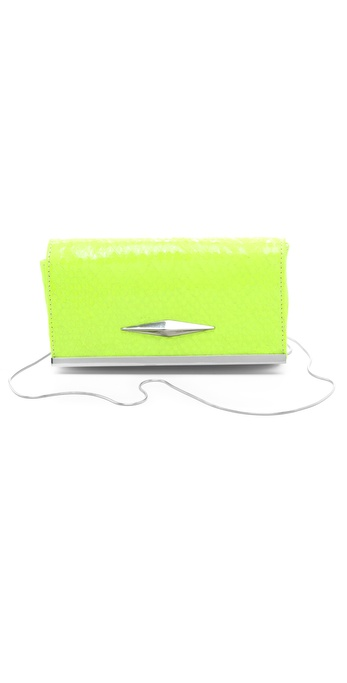 Lauren Merkin Handbags Essex Neon Snake Clutch