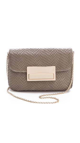 Lauren Merkin Handbags Iris Stamped Snake Clutch
