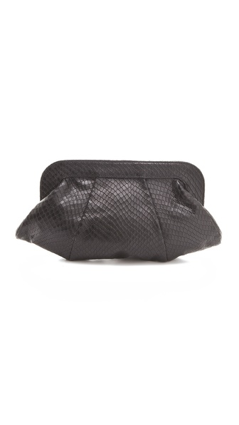 Lauren Merkin Handbags Tatum Stamped Snake Clutch