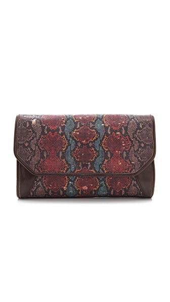 Lauren Merkin Handbags Molly Printed Cork Clutch