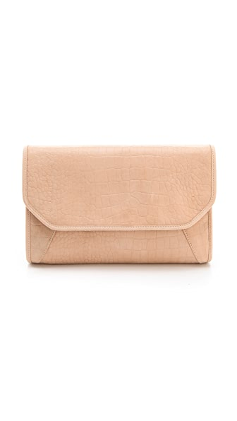Lauren Merkin Handbags Molly Suede Croco Clutch