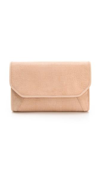 Lauren Merkin Handbags Molly Suede Croco Clutch