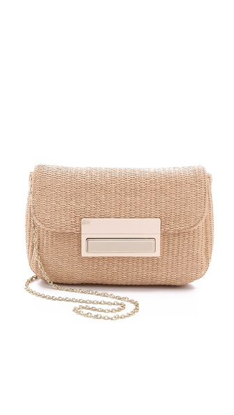 Lauren Merkin Handbags Iris Raffia Clutch