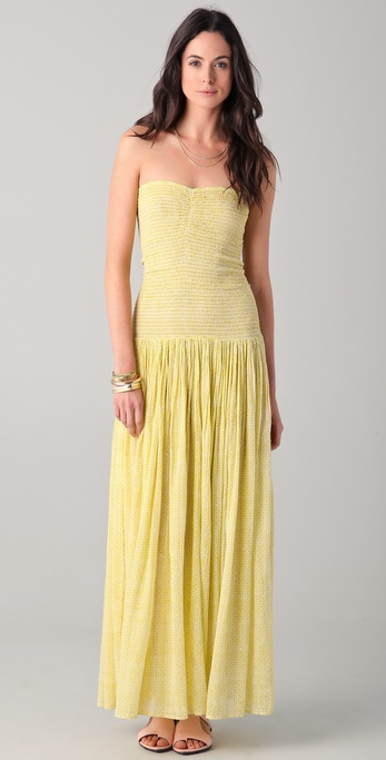 Laurence Dolige Tubas Strapless Maxi Dress
