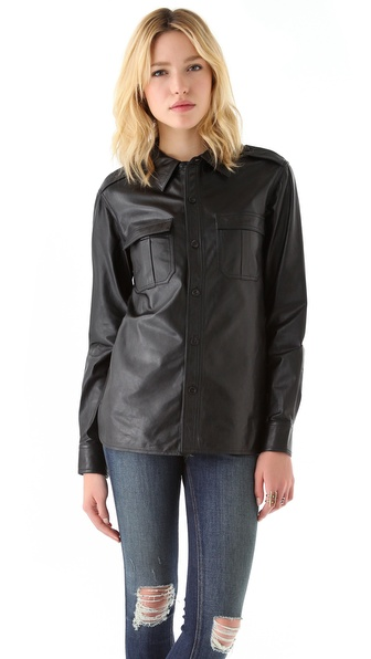 Laurence Dolige Soldat Leather Shirt