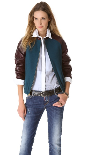 LAVEER Wool & Leather Bomber