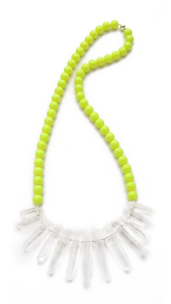 La Vie Bobo Large Neon Quartz Necklace
