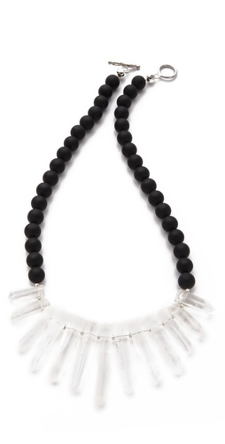 Shop La Vie Bobo Medium Matte Quartz Necklace and La Vie Bobo online - Accessories,Womens,Jewelry,Necklace, online Store