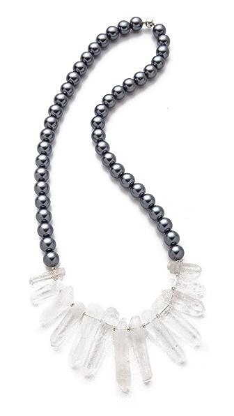 La Vie Bobo Large Glass Quartz Necklace