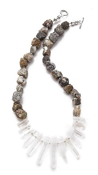 La Vie Bobo Medium Pyrite Quartz Necklace