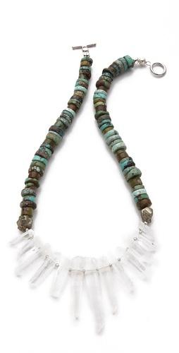 La Vie Bobo Medium Turquoise Quartz Necklace