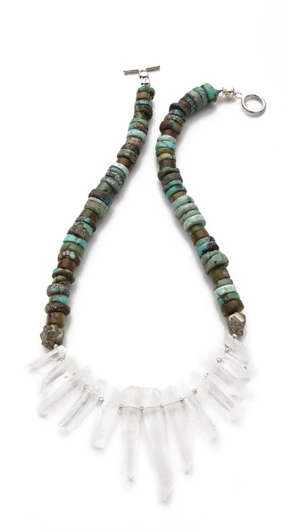 La Vie Bobo Medium Turquoise Quartz Necklace