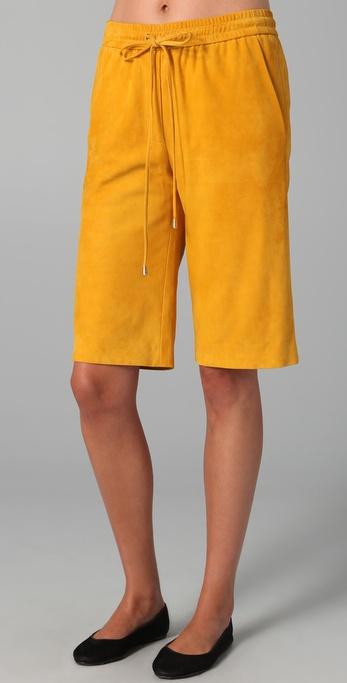 Lyn Devon Truman Suede Shorts