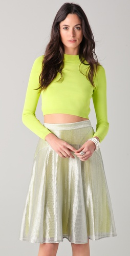 Lyn Devon Swim Cropped Sweater