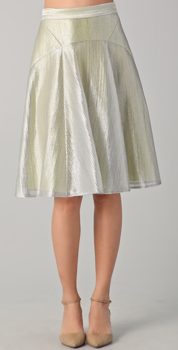 Lyn Devon Short Metallic Morris Skirt