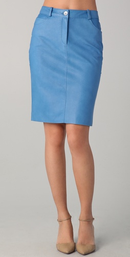 Lyn Devon City Leather Skirt