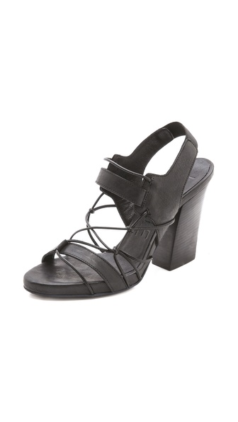 LD Tuttle Foil Knotted Sandals