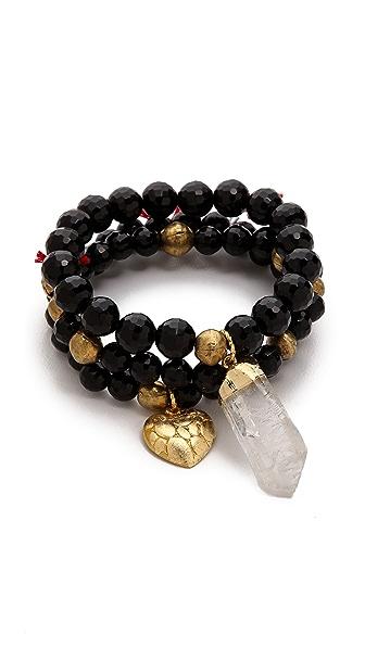 Lead Quartz Beaded Bracelet Set