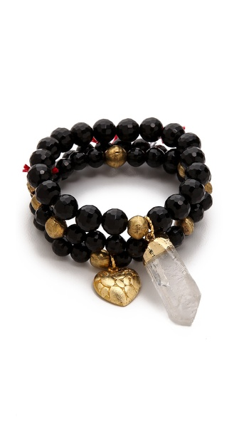 Lead Quartz Beaded Bracelet Set