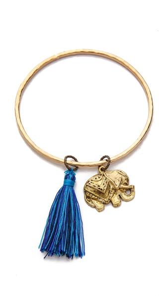 Lead Elephant Charm Bracelet
