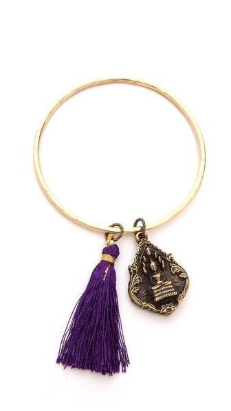 Lead Charm & Tassel Bracelet