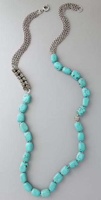 Lee Angel Jewelry Naomi Oversized Turquoise Necklace