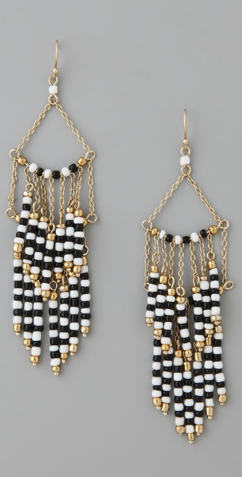 Lee Angel Jewelry Beaded Fringe Earrings