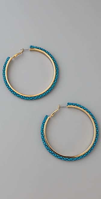 Lee Angel Jewelry Mesh Chain Hoop Earrings