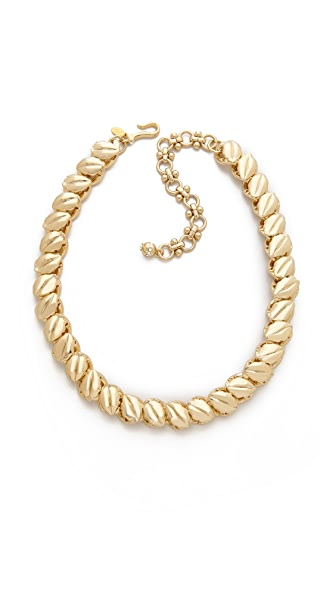 Lee Angel Jewelry Textured Leaf Chain Necklace