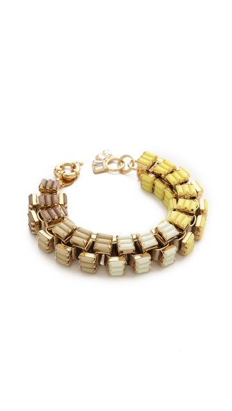 Lee Angel Jewelry Ombre Baguette Box Link Bracelet