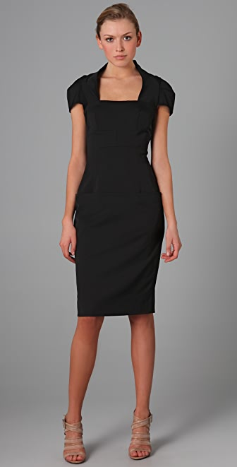 Lela Rose Drop Waist Sheath Dress