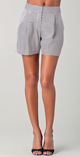 Lela Rose Pleated Shorts