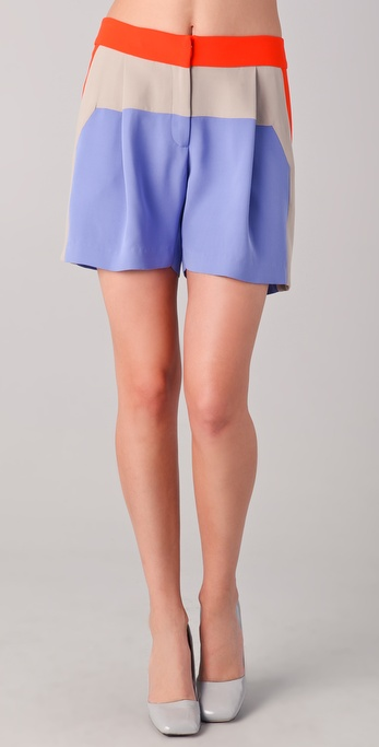 Lela Rose Colorblock Shorts