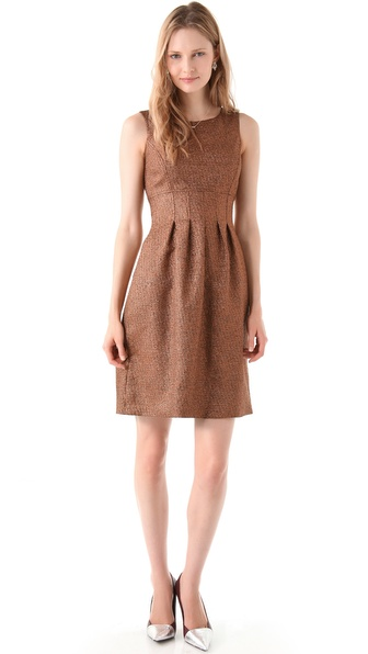 Lela Rose Metallic Sheath Dress