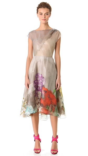 Lela Rose Full Skirted Drape Dress
