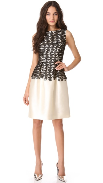 Seamed Dress with Full Skirt :  shopbop style cocktail dress