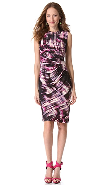 Lela Rose Sheath Dress with Side Ruching