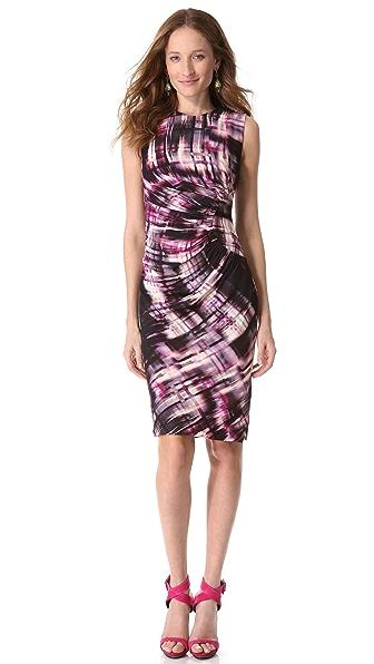 Lela Rose Sheath Dress with Side Ruching