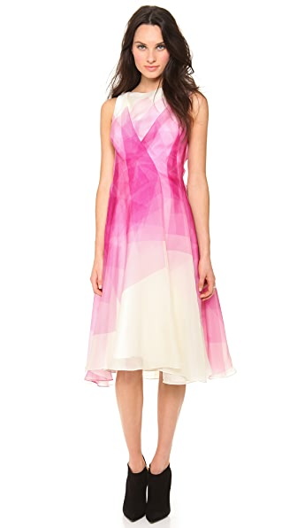 Lela Rose Organza Boat Neck Dress