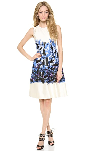 Lela Rose Embroidered Full Skirt Dress