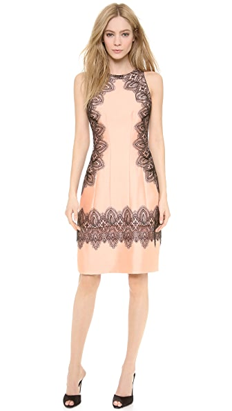 Lela Rose A Line Halter Dress