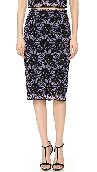 Lela Rose Lace Pencil Skirt